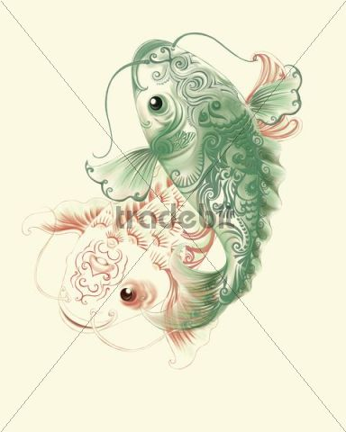 Illustration, Chinese fish