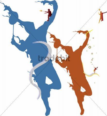 Illustration, athletes