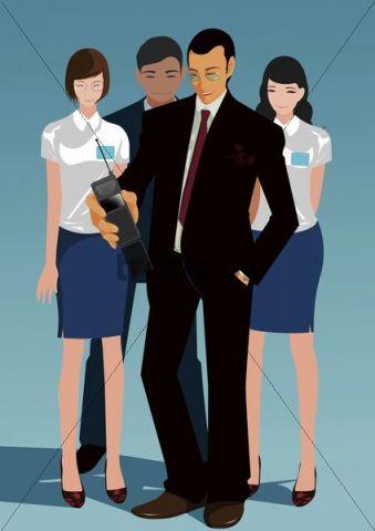 Illustration, businesspeople