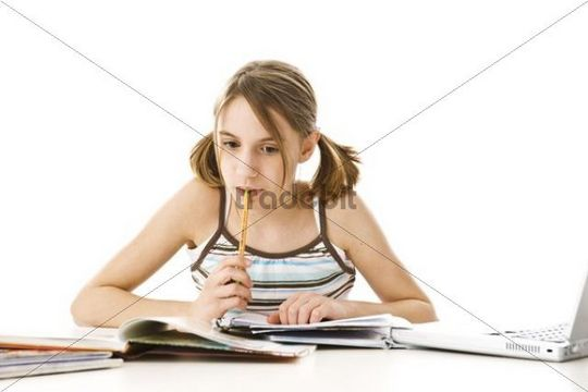 Girl on the compter