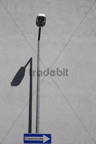 Traffic sign and street light