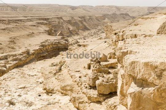 Wadi Degla, dried out Nile Valley, Egypt, Africa ...