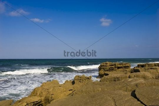Rocky coast, St Lucia Wetland National Park, South Africa, Africa
