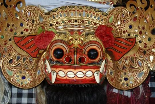 Arts and culture, Barong mask, mystical mythical creature, Ubud, Ba