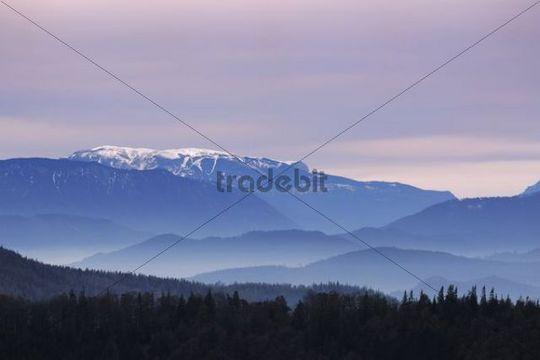 Landscape, Mount Kieneck, Lower Austria, Austria, Europe