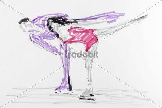 Figure Skate Drawing Drawing Figure Skating