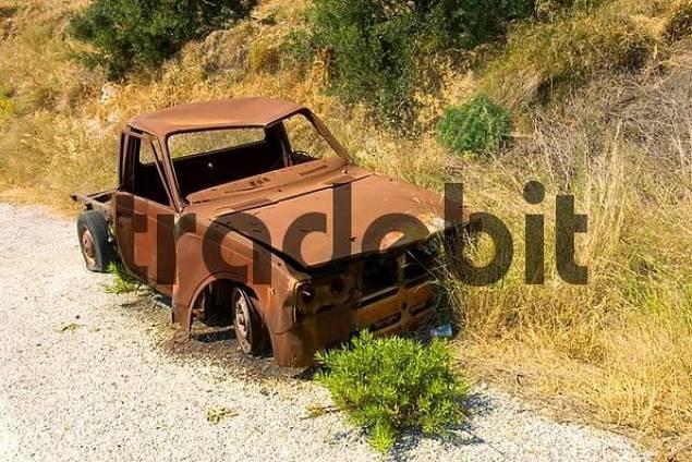 Car-wreck, Peloponnese, Greece
