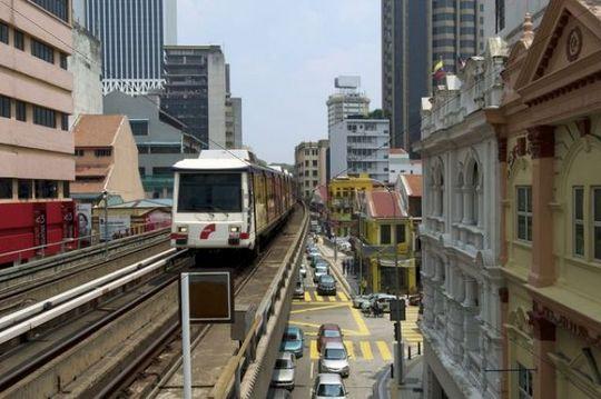 Elevated train, Kuala Lumpur, Malaysia, Southeast Asia