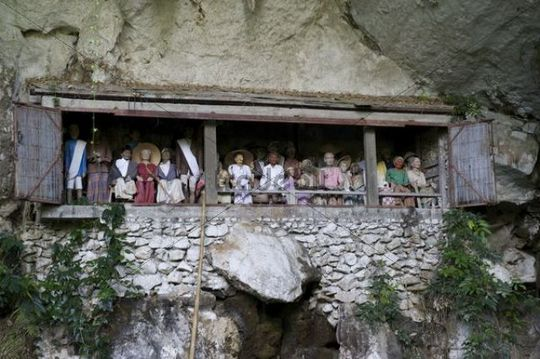 Gallery of ancestors and burial place of the Toraja in Londa, near Rantepao, Sulawesi, Indonesia, Southeast Asia