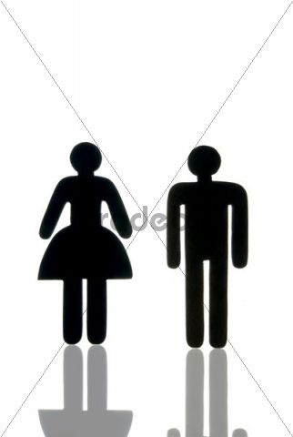 Woman and man as a pictogram