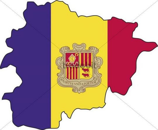 Andorra, flag, outline