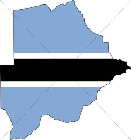 Botswana, flag, outline