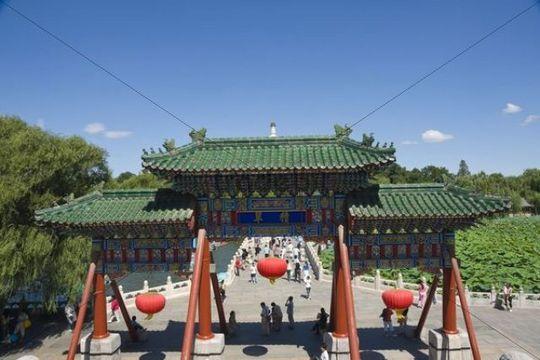 Archway, Beihai Park, Beijing, China, Asia