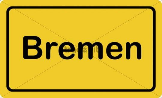 "Place-name sign ""Bremen"""