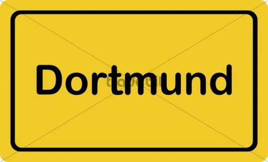 "Place-name sign ""Dortmund"""