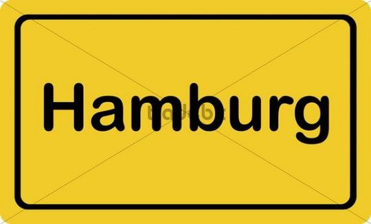 "Place-name sign ""Hamburg"""