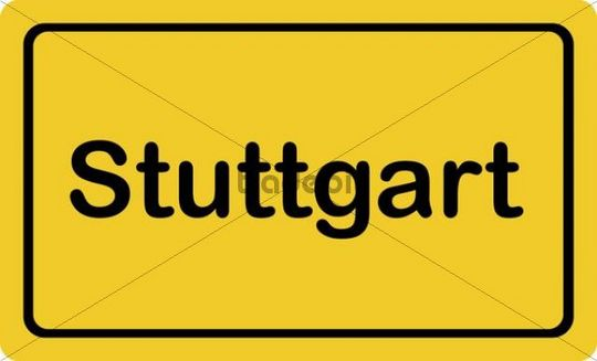 "Place-name sign ""Stuttgart"""