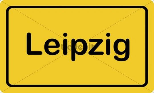 "Place-name sign ""Leipzig"""