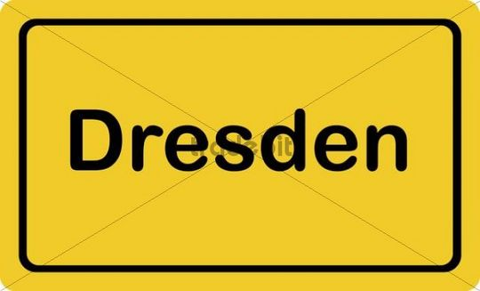 """Place-name sign """"Dresden"""""""