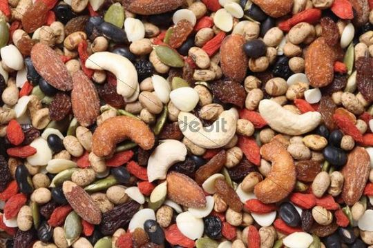 Various pulses, grains, nuts