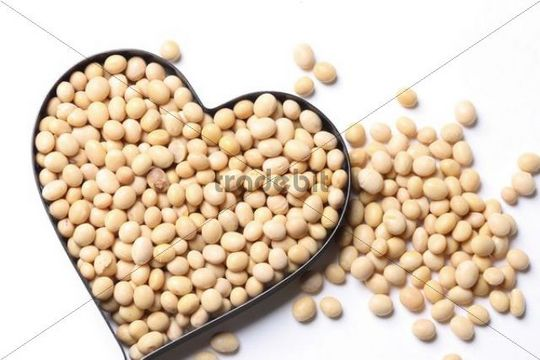 Soybeans, baking shape, heart