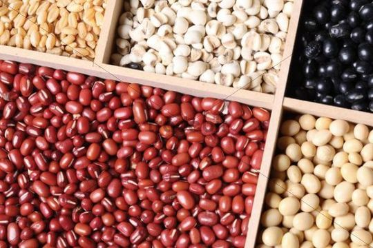 Various pulses, grains