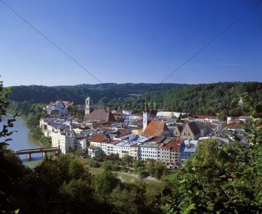 Wasserburg on the Inn River, Chiemgau, Upper Bavaria, Bavaria, Germany, Europe