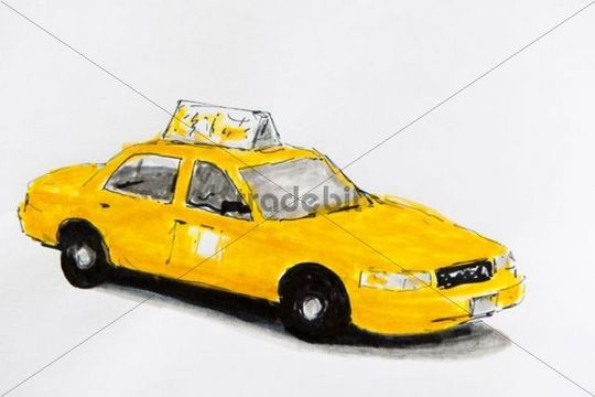 Clip Art Vector of taxi cab csp17601962 - Search Drawings ... |Yellow Taxi Cab Drawing
