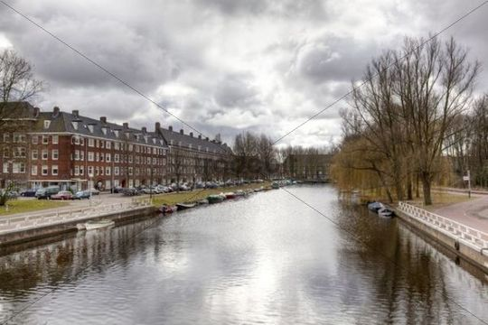 Gracht or canal, Amsterdam, The Netherlands, Europe