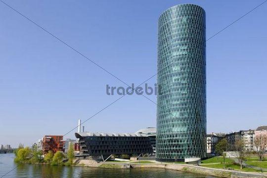 Westhafen tower office building ofb modern architecture for Industrial design frankfurt