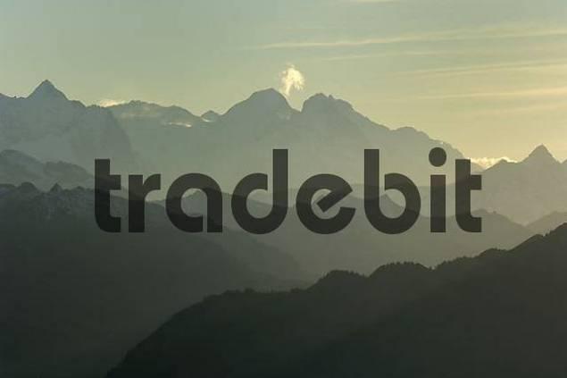 panorama of the alps, Central Switzerland, Schwyz, Switzerland