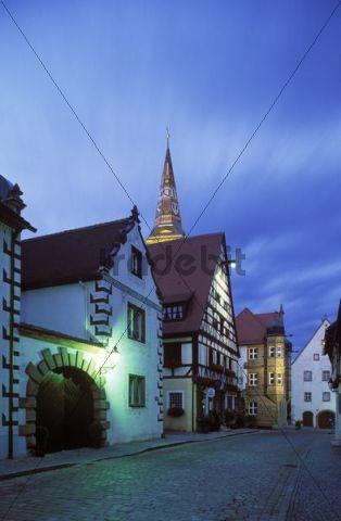 Main street, Wolframs-Eschenbach, Middle Franconia, Franconia, Bavaria, Germany, Europe