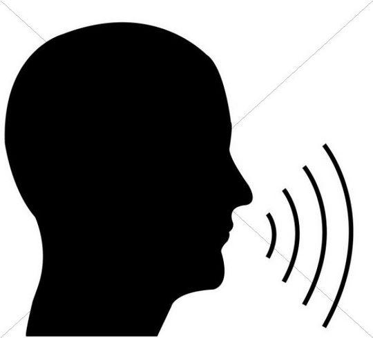 Head In Profile With Speech Symbol Illustration