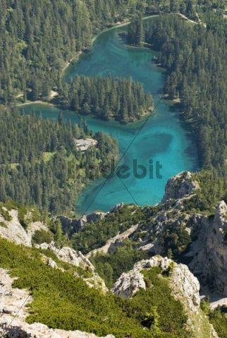 Gruener See, Green Lake, Hochschwab, Tragoess, Styria, Austria, Europe