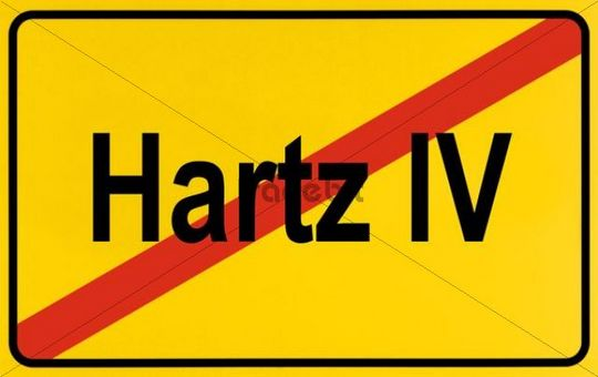 City limit sign, symbolic image for the end of the Hartz IV reform