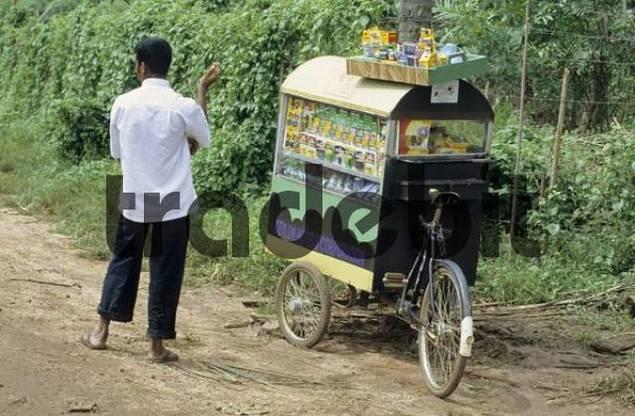 mobile souvenir shop, Sri Lanka