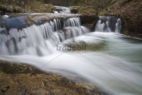 Water basin at Grimmelbach river, Lower Austria, Austria, Europe