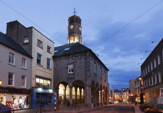 City hall Tholsel, High Street, Kilkenny, County Kilkenny, Republic of Ireland, British Isles, Europe