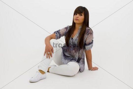 Sitting teenager