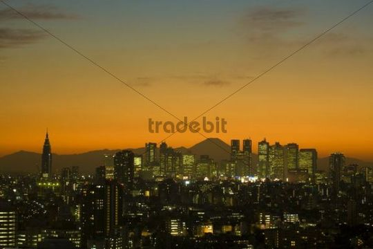 Tokyo, Mount Fuji at back, Japan, Asia
