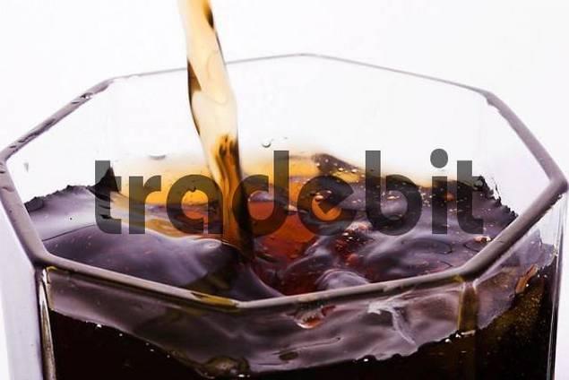 pouring a coke