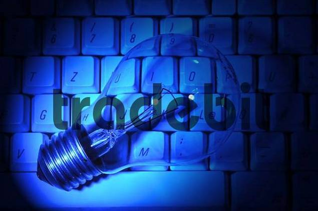 light bulb on a keyboard idea