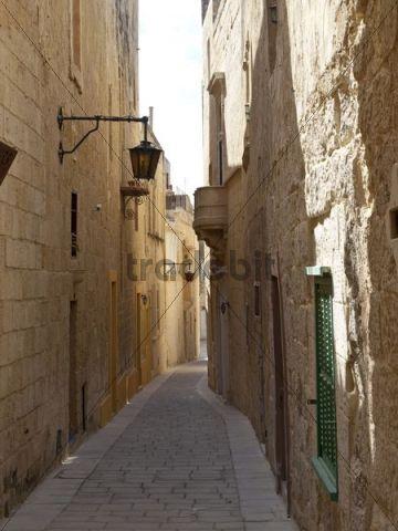 Alley, Mdina, Malta island, Republic of Malta, Europe