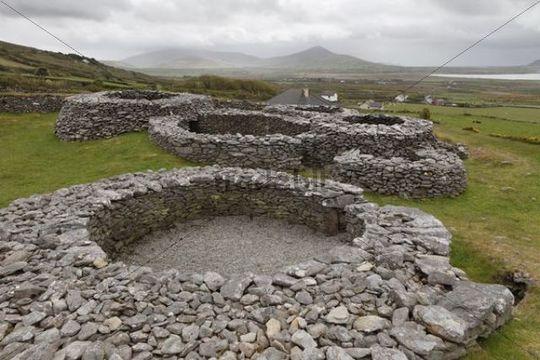 Caherdorgan Fort, Kilmalkedar, Dingle Peninsula, County Kerry, Ireland, British Isles, Europe