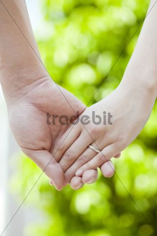 Hand in hand, couple