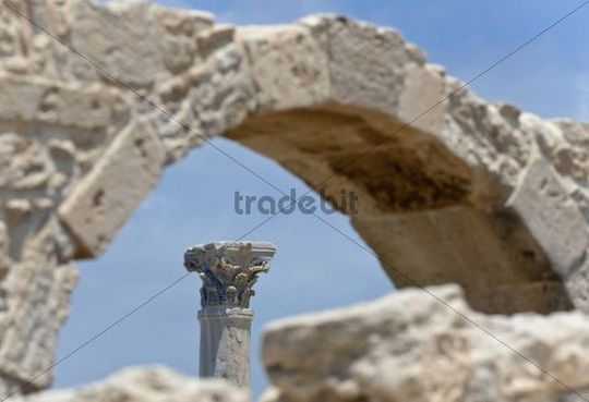 Archaeological excavation site of the ancient city of Kourion, South Cyprus, south coast, Greek Cyprus, Southern Europe