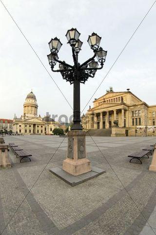 Gendarmenmarkt square in the early morning, Berlin, Germany, Europe