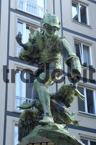 Gaensediebbrunnen Dresden Saxony Germany