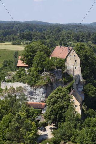 Burg Pottenstein Castle, Franconian Switzerland, Franconian Alb, Upper Franconia, Franconia, Bavaria, Germany, Europe