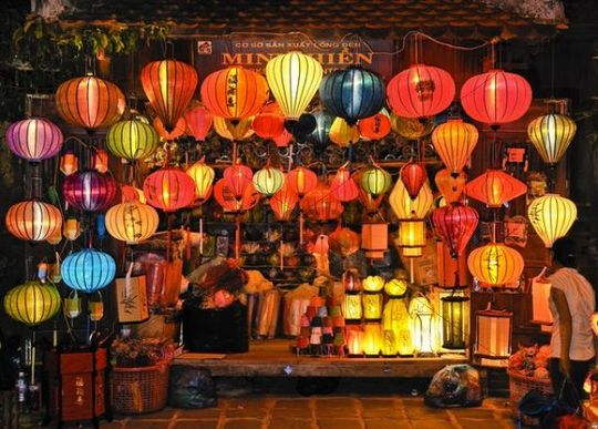 Business with lanterns, Hoi An, Vietnam, Southeast Asia